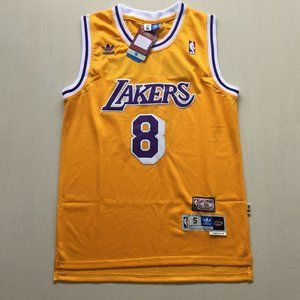 Lakers #8 Kobe Bryant Retro Yellow Jersey